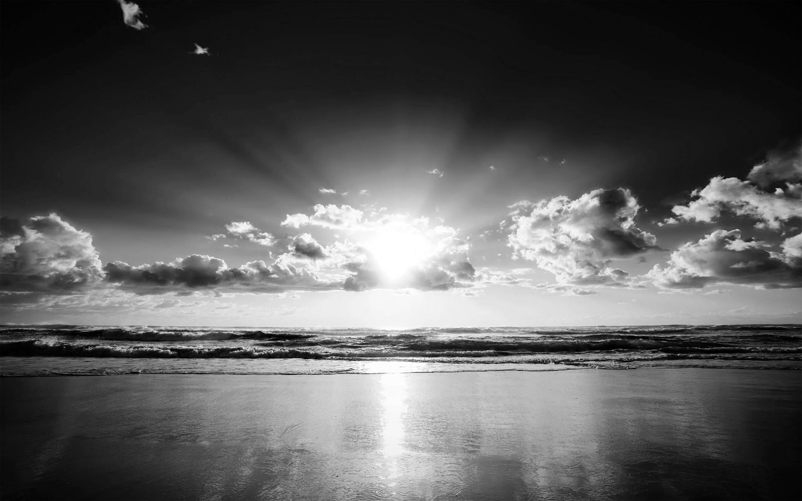 Black White Hd Wallpaper: Black And White Wallpapers: Black And White Beach