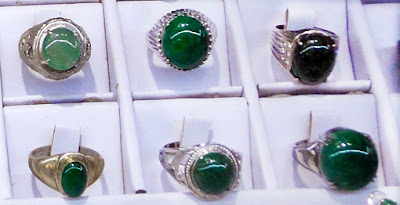 handmade sterling silver rings jadeite cabochons