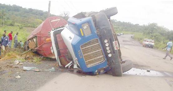 fuel tanker falls ebonyi