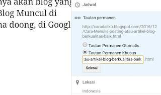 Cara Menulis Posting atau Artikel Blog Berkualitas Baik