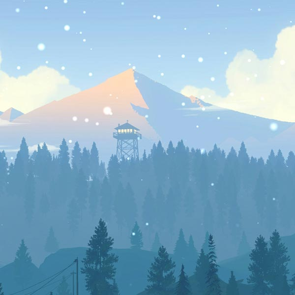 Firewatch 4K [Blue Winter] Wallpaper Engine