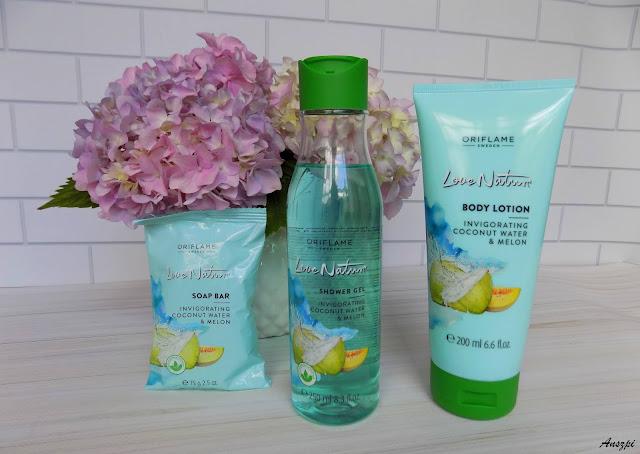 Trio z wodą kokosową i melonem Love Nature, Oriflame