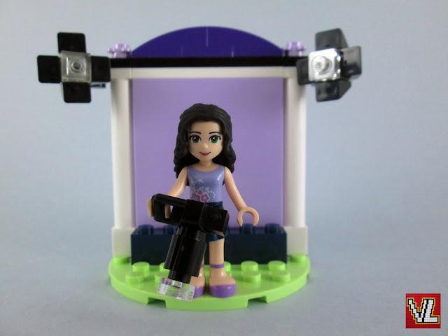 No estúdio fotográfico de LEGO Friends Emma