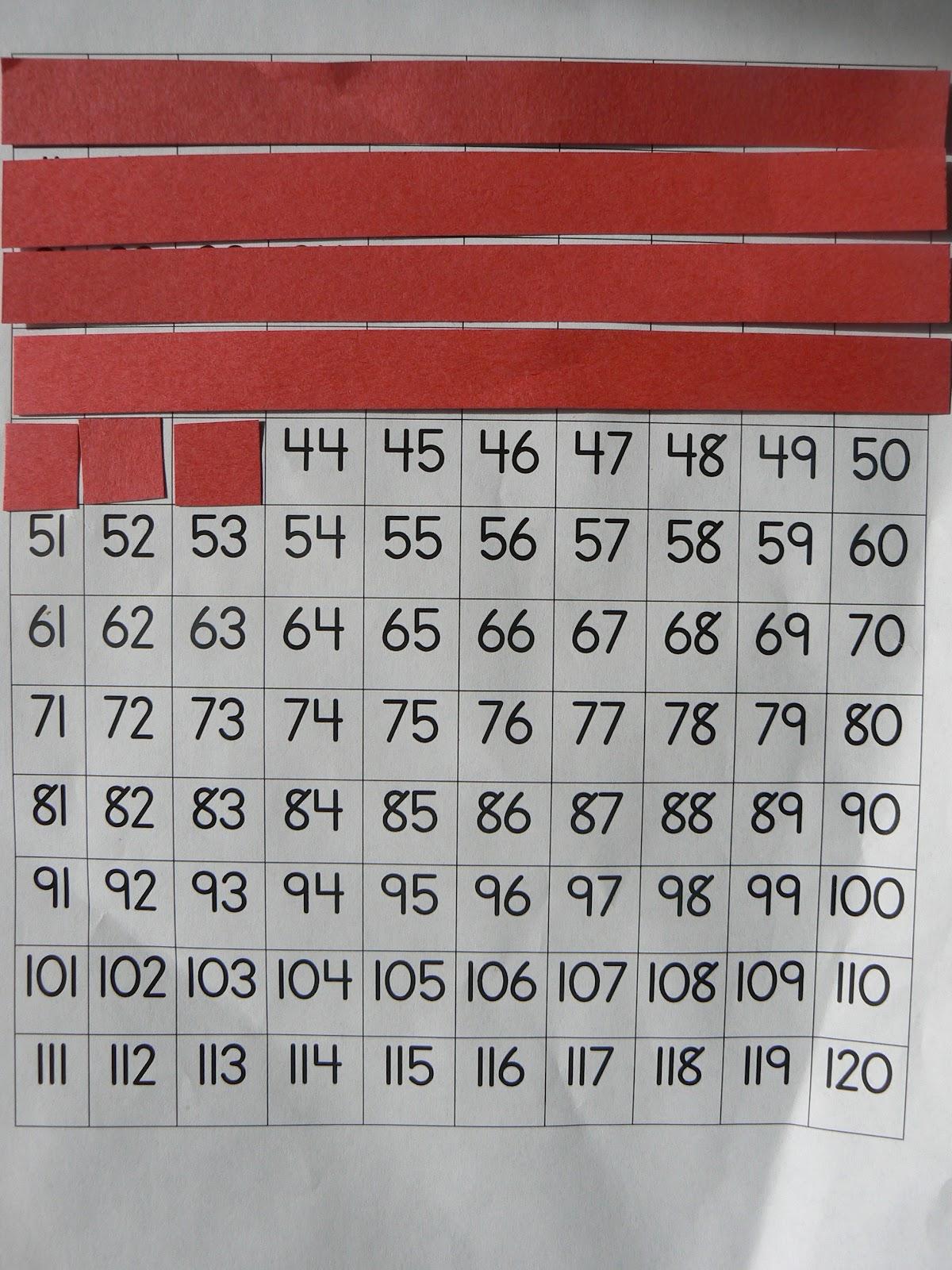 Mrs T 39 S First Grade Class Base Ten On A Hundreds Chart