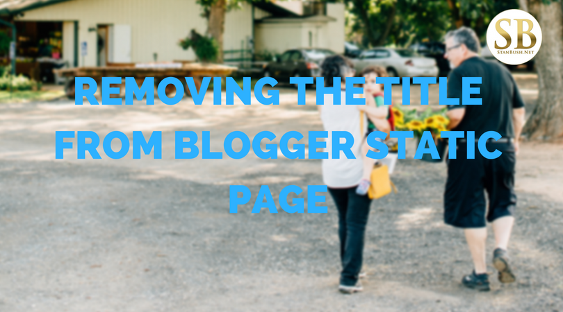 How to remove the title page from a blogger site