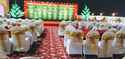 Wedding stage setting for banquet hall in country Inn & suites by Radisson Navi Mumbai