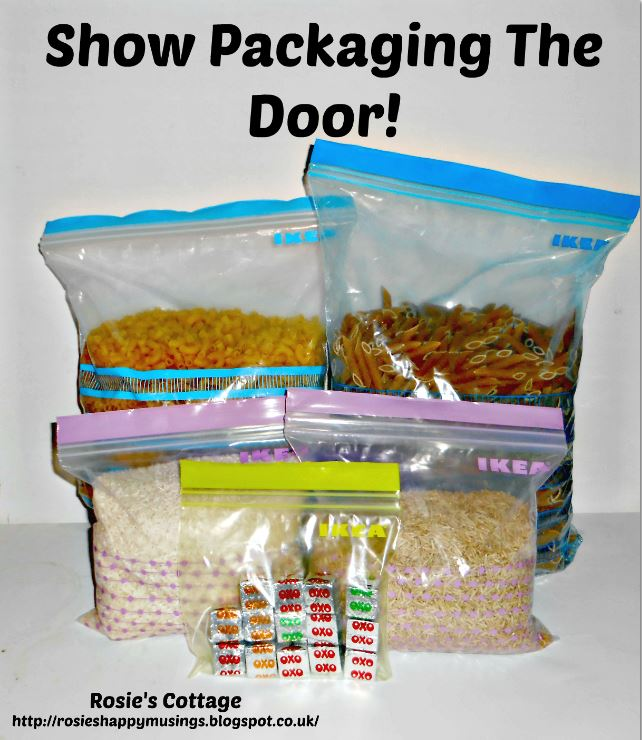 Show packaging clutter the door recycle more