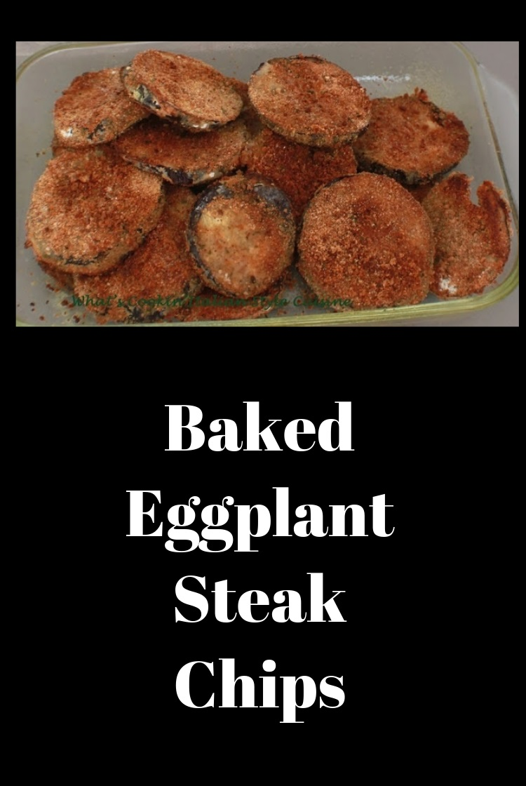 these are eggplant sliced breaded and baked