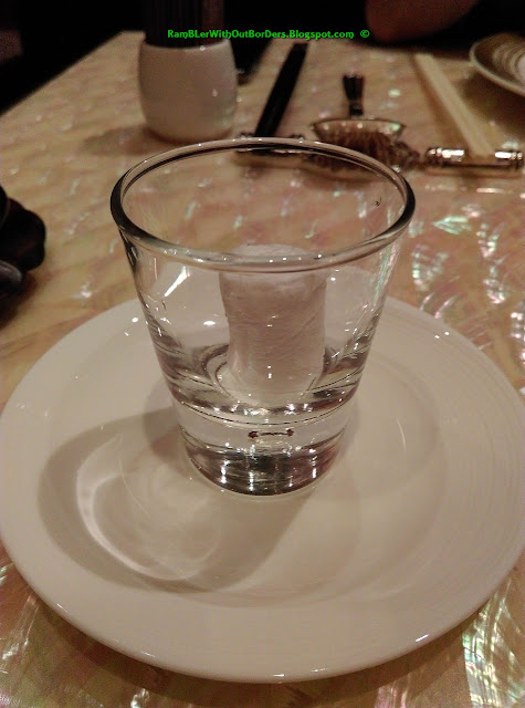wet wipe, the Eight Restaurant, Grand Lisboa, Macau