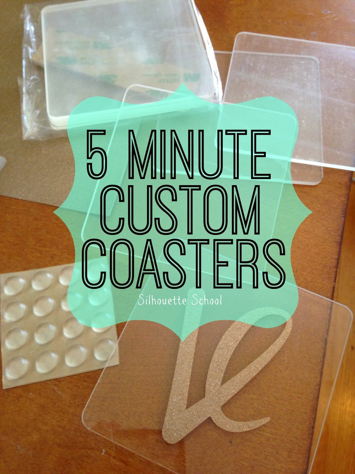Silhouette tutorial, custom coasters, DIY, do it yourself