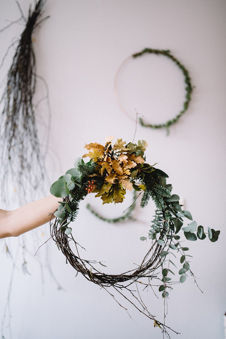 Asymmetrical wreath by Pixy With Love for Lili Halo Decoration