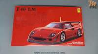 Ferrari F40 LM, 1/24 Fujimi, kit nr. 126456 - inbox review