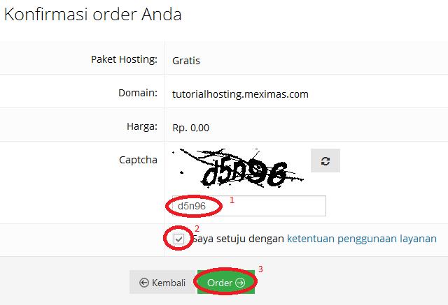 cara hosting di hostinger