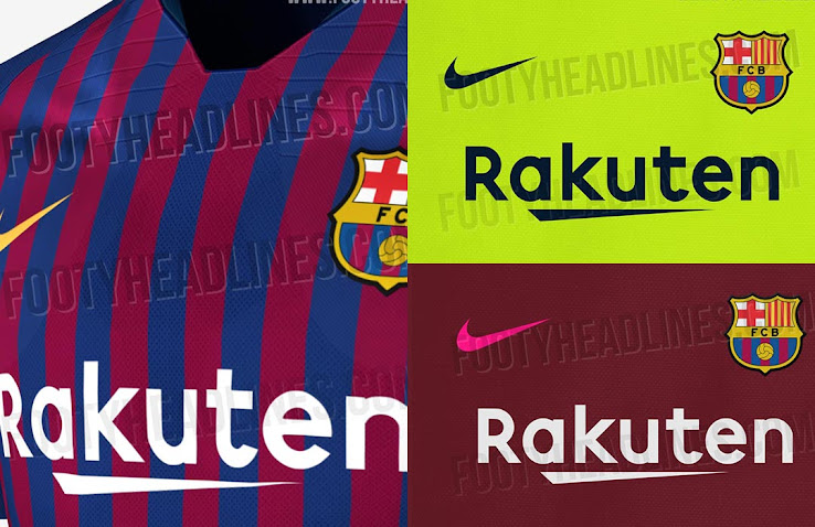 Nike FC Barcelona 18-19 Home Kit Leaked + Away & Third Kit Details