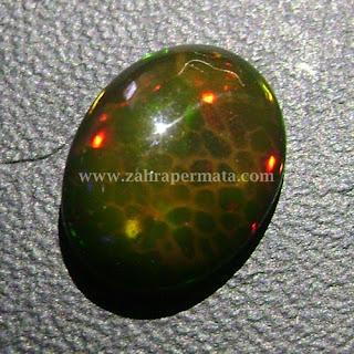 Batu Permata Black Opal Kalimaya - ZP 434