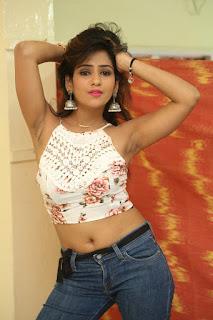 Deekshita Parvathi in a short crop top and Denim Jeans Spicy Pics Beautiful Actress Deekshita Parvathi January 2017 CelebxNext (87).JPG