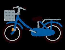 自転車のイラスト「青」