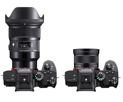 Sigma 24mm f/1.4 Art и Samyang AF 24mm f/2.8 FE с камерами Sony