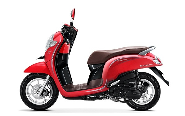Honda Scoopy eSP warna Stylish mette red
