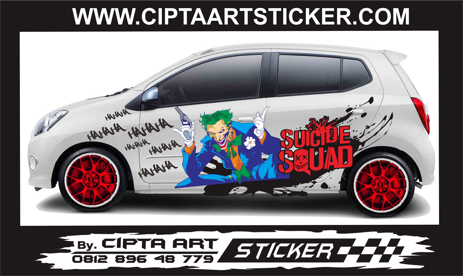 Gambar Cutting Sticker Mobil Joker Modifikasi Motor