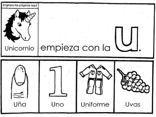 Palabras con la letra u | Material para maestros, Planeaciones ...