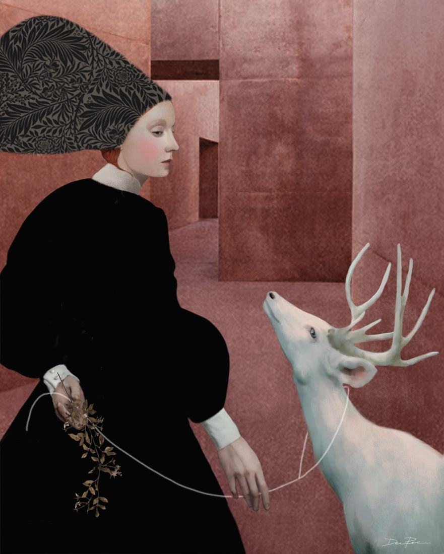13-Walking-with-a-White-Deer-Daria-Petrilli-Photograph-Collage-to-Produce-Surrealism-www-designstack-co