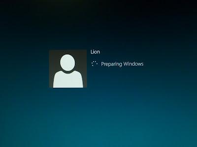 沿用 Windows XP 的用戶設定登入中。