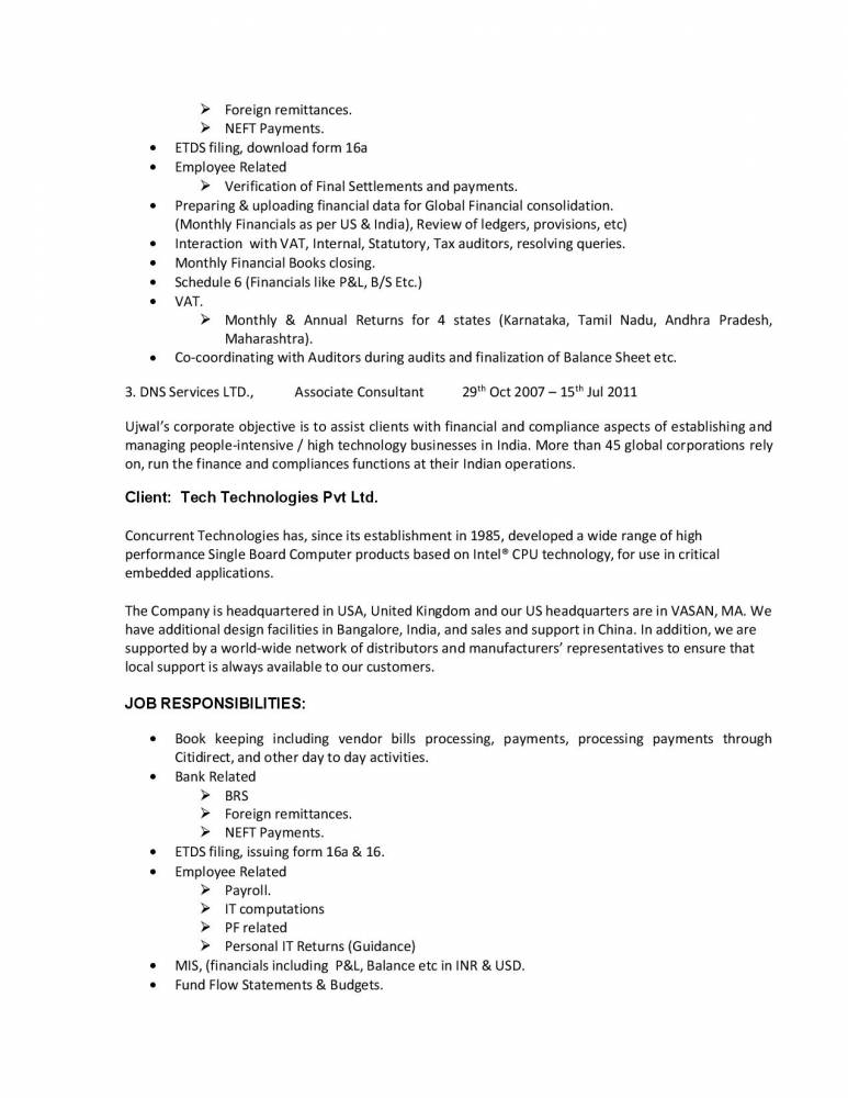 resume format for mba finance with work experience