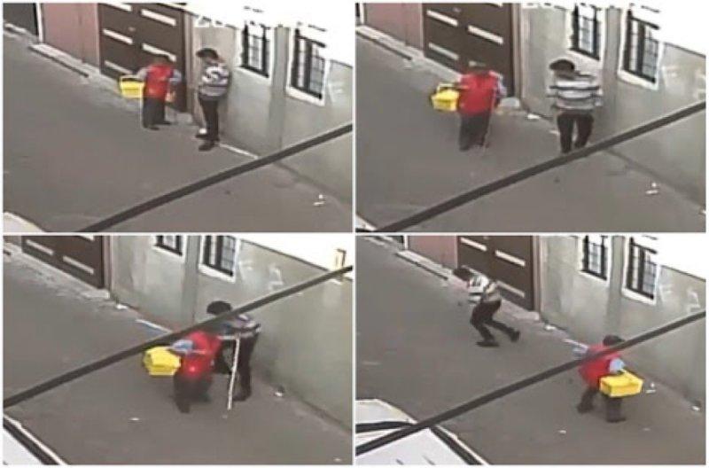 Ladrón asalta a anciano ciego que vendía gelatinas en la CDMX