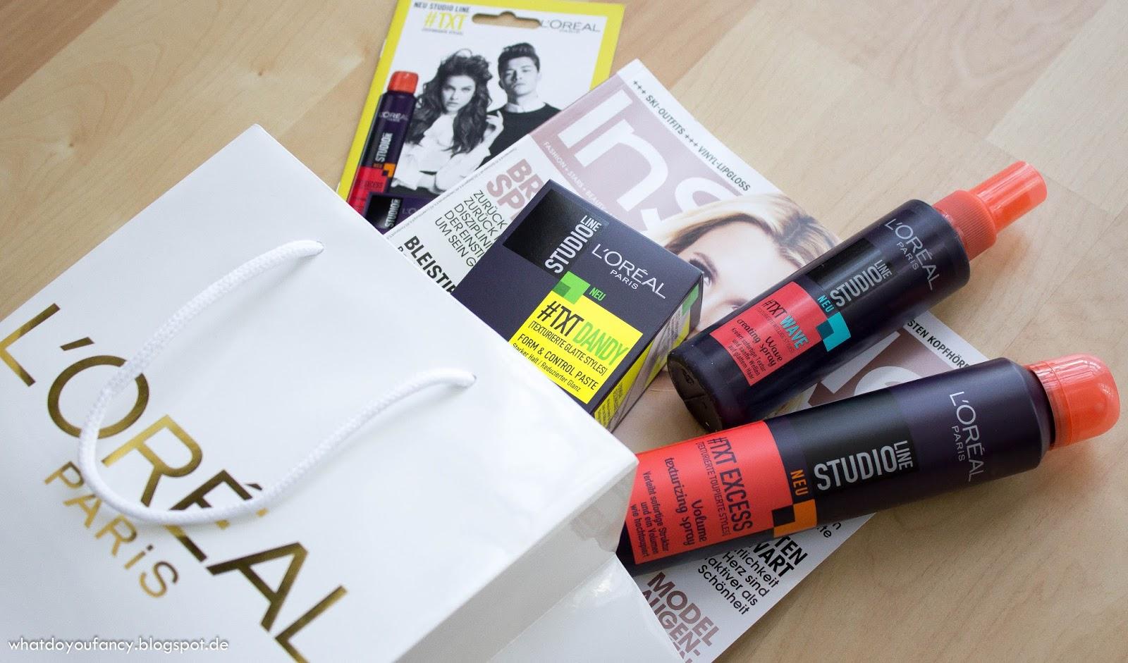 L'Oréal lud zum Launch der neuen Studio Line #TXT-Produkte + App #TXTMYSTYLE ein_Goodies