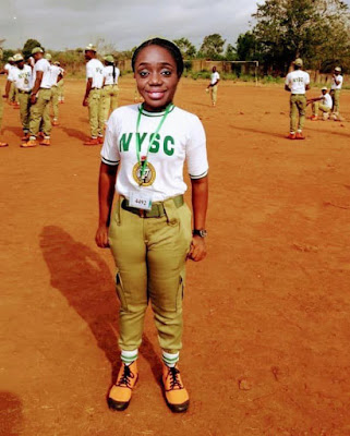 kemi adeosun on nysc uniform