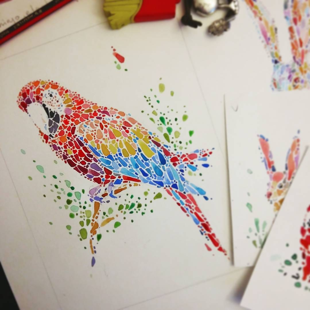 05-Parrot-Ana-Enshina-anaensh-Dot-and-Circle-Animal-Paintings-Ishihara-Test-www-designstack-co