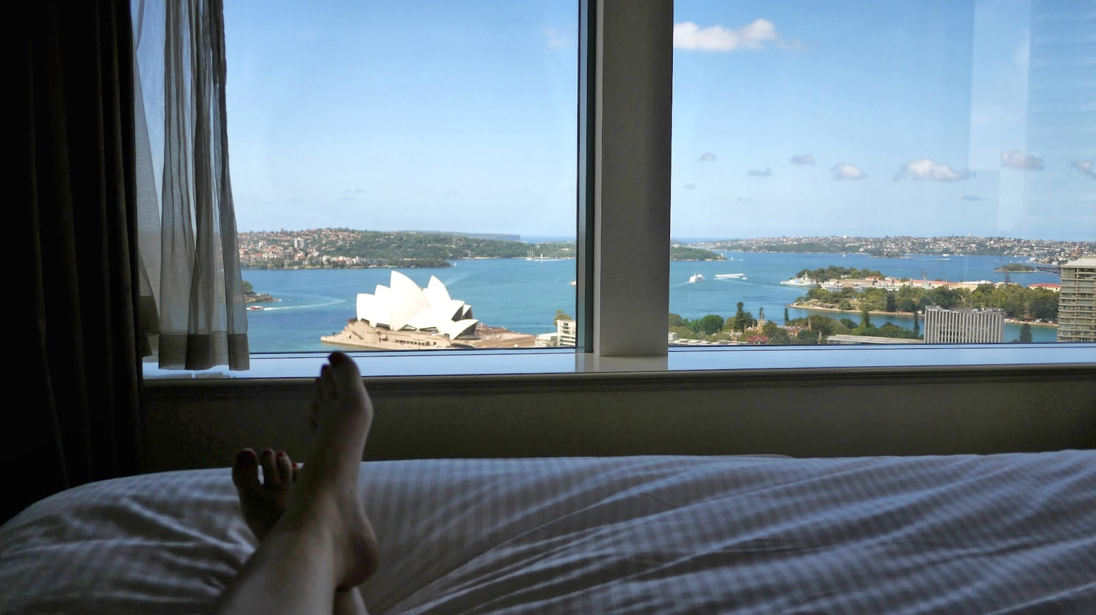 View from Premier Grand Harbour View Room Shangri La Sydney