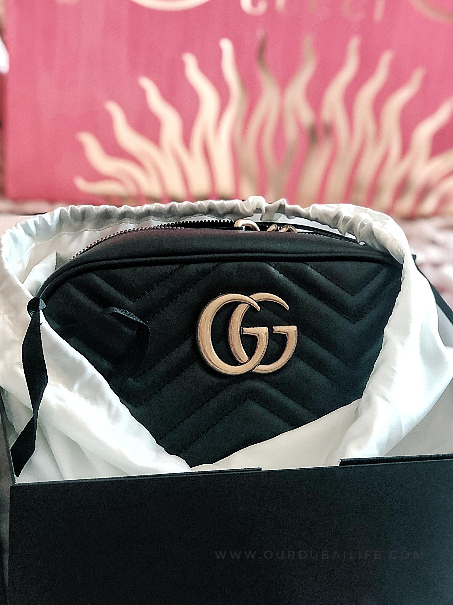 GUCCI MARMONT black camera bag