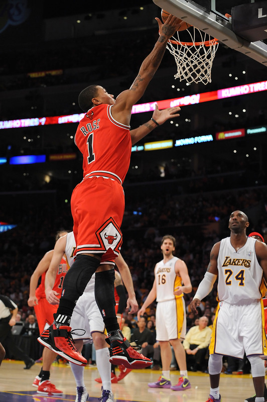 best cheap 69ca0 042b0 Derrick Rose laying it up in the adidas adiZero Rose 2