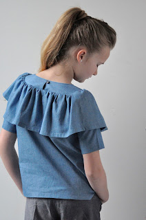 chambray, ruffles, matching outfits matching minds, momm, mommhack, sewing for kids, naaien, diy, sewing