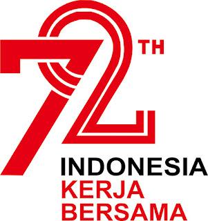 Logo HUT RI Ke-72 Format CDR