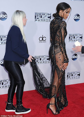 Ciara Steps Out In See-Through Dress For The American Music Awards [See Photos]