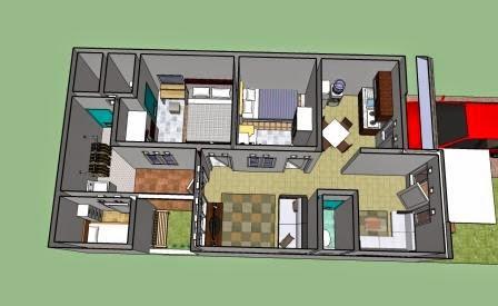 Desain Rumah Minimalis 1 Lantai Ukuran 6X15