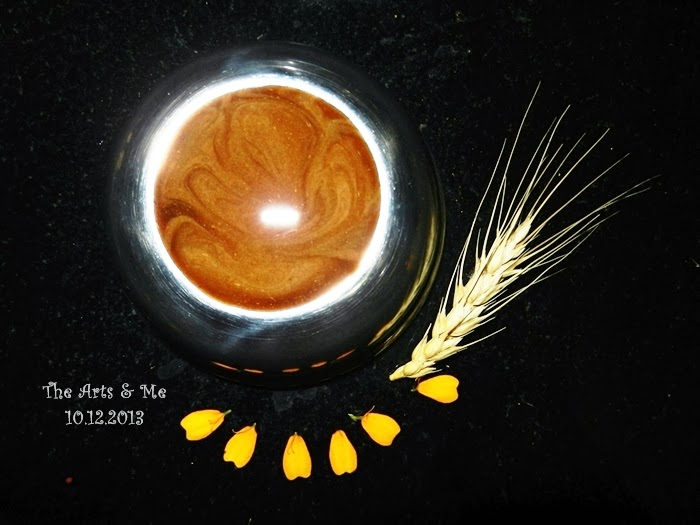 Lord ganesha - Latte Art? No! This is an imitation art made using honey and yeshtimadhu, an ayurvedic medicine for cough.