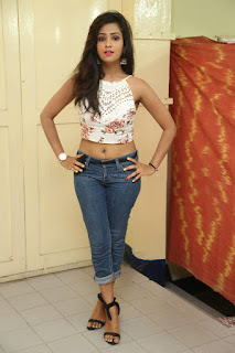 Deekshita Parvathi in a short crop top and Denim Jeans Spicy Pics Beautiful Actress Deekshita Parvathi January 2017 CelebxNext.jpg
