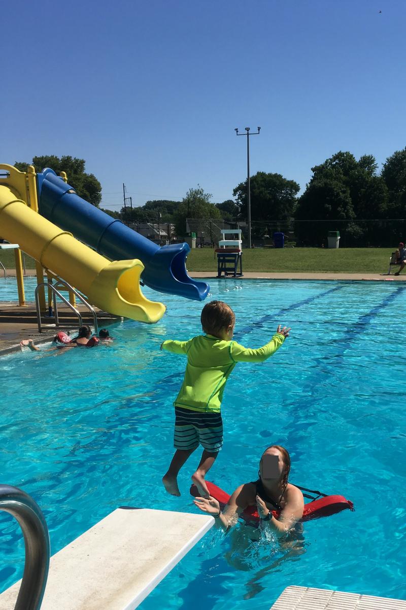 diving board swim lessons inspiration