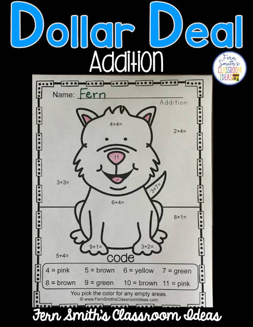 Your students will ADORE these Awesome Animals Color By Numbers! Try these dollar deals out today! Awesome Animals Color Your Answers Worksheetcome complete with answer keys, just print and go!  I hope these resources allow you to spend more time with your family and friends while bringing some joy to your students' day! #FernSmithsClassroomIdeas