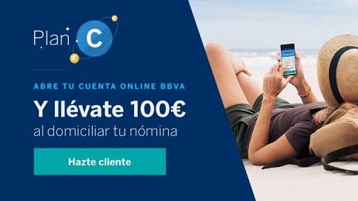 Gana 100€ al abrir una cuenta online en BBVA