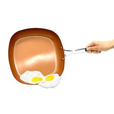"Gotham Steel 2"" Deep Square Copper Frying Pan"