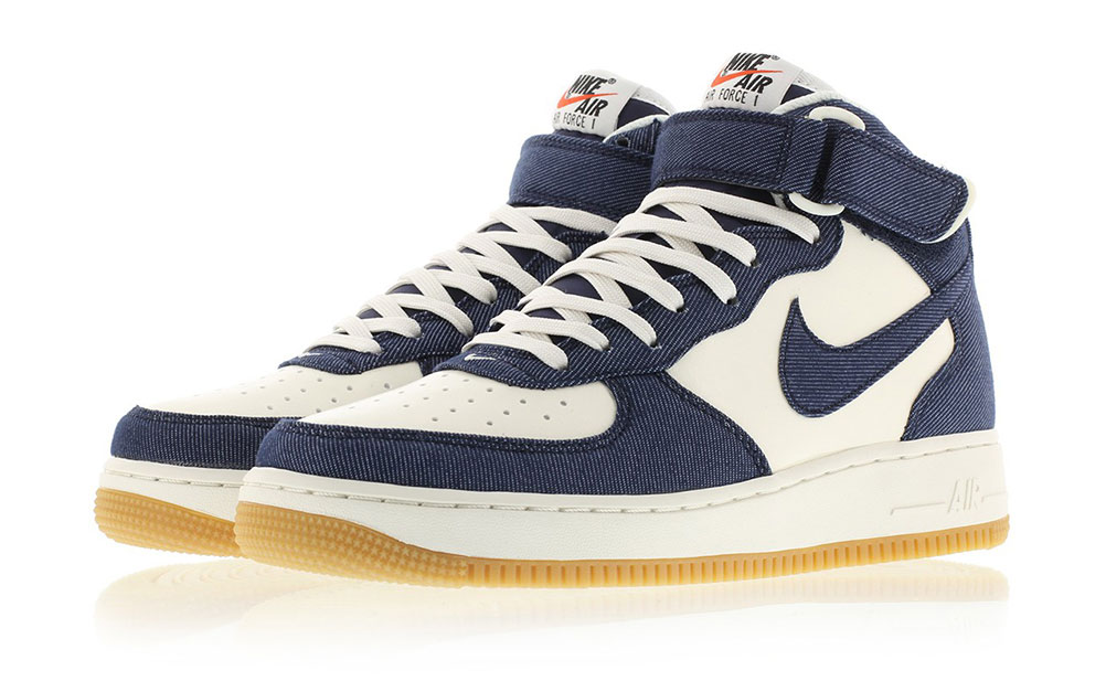 the latest be8f2 2d72e Nike Air Force 1 Mid Denim Gum