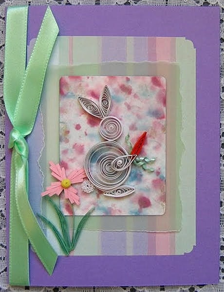 All Things Paper: Quilled Rabbit Cards