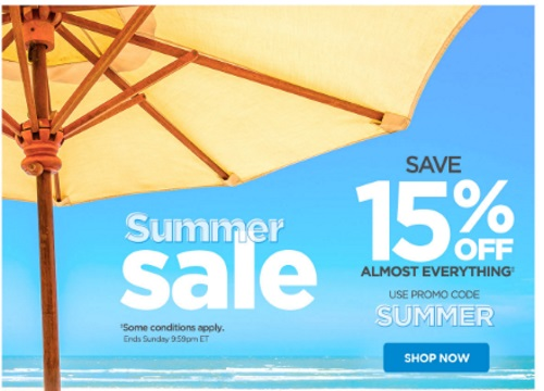 The Shopping Channel Summer Sale Save 15% off Promo Code