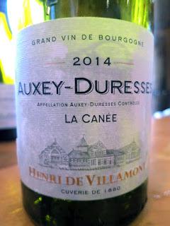 Henri de Villamont Auxey-Duresses La Canée 2014 (91 pts)