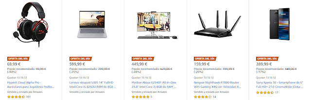 Ofertas 28-05 Amazon 5 Ofertas del Día y 5 Ofertas Flash